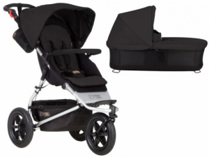 Mountain Buggy Urban Jungle V3 Black inklusive Liggdel Plus V3
