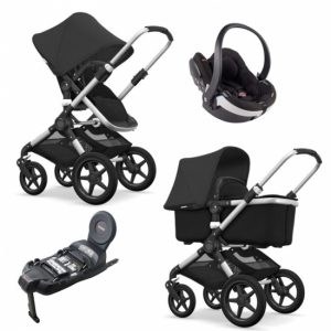 Bugaboo Fox Komplett Black/Alu Travel System BeSafe