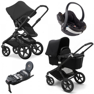 Paketpris! Bugaboo Fox  All Black + BeSafe Modular & Bas
