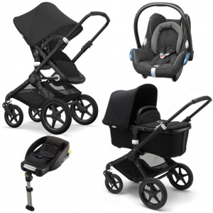 Bugaboo Fox Komplett All Black Travel System Maxi Cosi