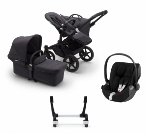 Bugaboo Donkey 3 Mono Mineral Washed Black + Cybex Cloud Z & Adapter