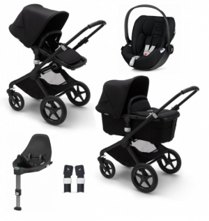 Bugaboo Fox2 Black/Black, Cybex Cloud Z, Base Z, adapter