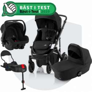 Paketpris Britax Smile 3 + Britax Primo + Bas | Space Black
