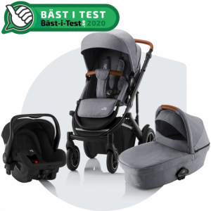 Paketpris Britax Smile 3 + Britax Primo | Frost Grey/Brown