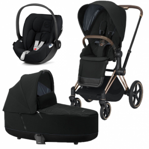 Cybex Priam 2020 Duovagn Rosegold Deep Black + Cloud Z babyskydd