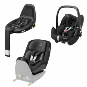 Paketpris! Maxi Cosi Pearl Pro-2 i-Size Authentic Black + Maxi Cosi Pebble Pro Black & Family Fix3 Bas
