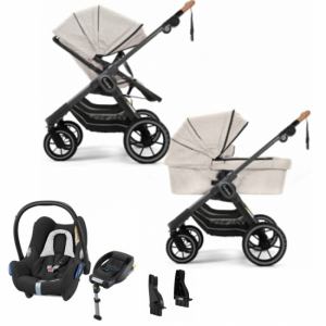 Paketpris! Emmaljunga 2021 NXT90 Duovagn 2-i-1n | Outdoor Chassi | Maxi-Cosi Cabriofix | Adapter | Bilbas
