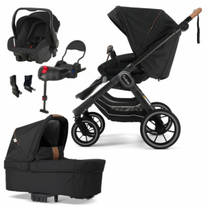 Paketpris Emmaljunga 2021 NXT90 FLAT Duovagn | Outdoor Chassi | Britax Primo | Adapter | Bilbas