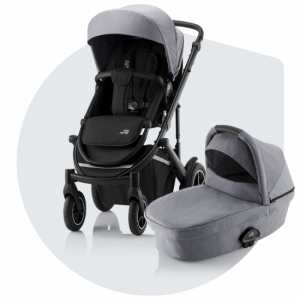 Britax Smile 3 Duovagn Frost Grey (Black Handle)