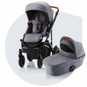 Britax Smile 3 Duovagn Frost Grey (Brown Handle)