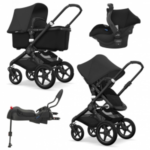 Paketpris! Bugaboo Fox All Black + Britax Primo & bas