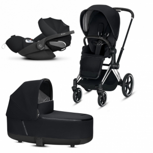 Barnvagnspaket Cybex Priam 2019 Chrome/Black + Cloud Z i-size Babyskydd