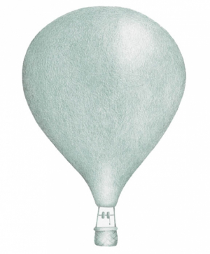 Stickstay Väggdekor Balloons Dusty Mint Big