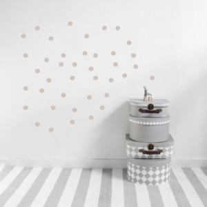 Stickstay Väggdekor Powder Beige Dots