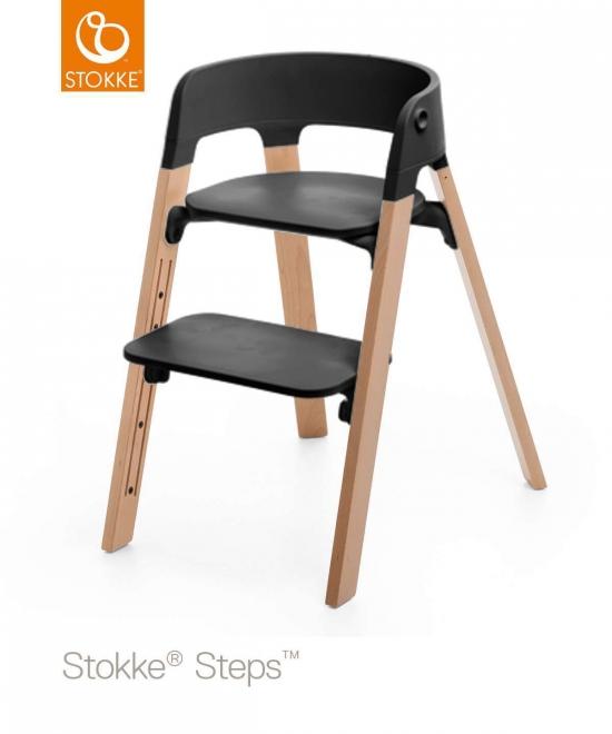stokke steps matstol natur svart sits stokke tripp trapp ma. Black Bedroom Furniture Sets. Home Design Ideas