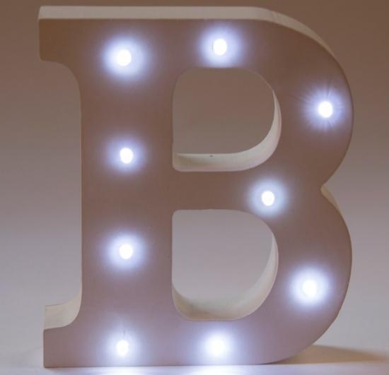 Sass & Belle LED lampa, Bokstav R | Vägglampor Lampor & nattl